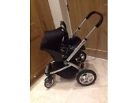 mothercare My4 pram system and easyfix base for sale