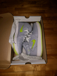 NIKE Af1 air force one NYC NEON edition butter leather sz:12