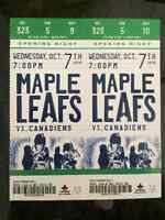 LEAFS VS CANADIENS HOME OPENER