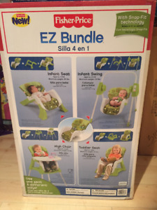 Fisher Price EZ Bundle 4-in-1 Baby System - New Sealed in Box