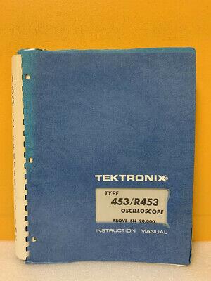Tektronix 070-0755-02 Type 453r453 Oscilloscope Instruction Manual
