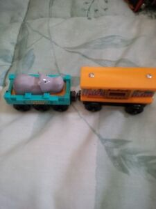 Thomas the Tank Wooden zoo and Hippo Cars