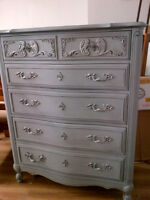 CHALK PAINTED FURNITURE, CRYSTAL KNOBS, CHALK PAINT AND SUPPLIES
