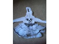 Girls ghost Halloween outfit