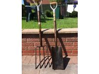 Digging fork and spade