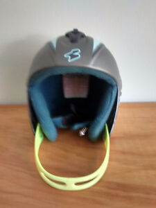 Youth racing helmet, suit, shorts and pads