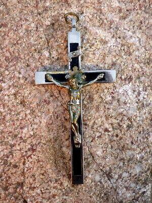 Wunderbares Old Pilgrim cross Pendant Crucifix Metal 11 CM Collector's Item