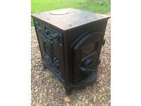 Beautiful small cast iron wood burning stove