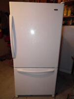 Fridge with bottom freezer