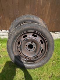 2x Tyres with rim 185/60/15 7mm.