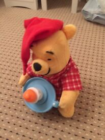 Winnie the poo lights and sounds bedtime bear
