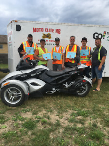New Brunswick Motorcycle Safety Course completed in one weekend