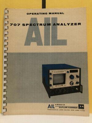 Ailtech 707 Spectrum Analyzer Operating Manual