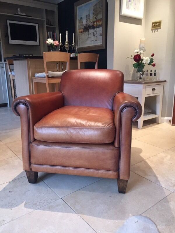 Laura ashley burlington leather armchair in east calder west lothian gumtree - Laura ashley office chair ...