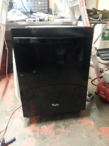 Black Whirlpool Dishwasher