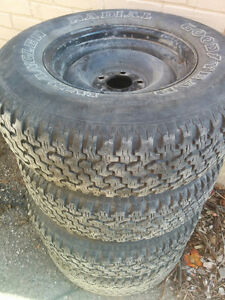 Nice wranglers Goodyear set of 4 on rims