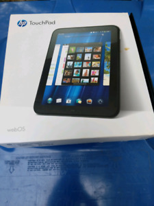 """HP touchpad tablet 10"""" with wireless charger"""