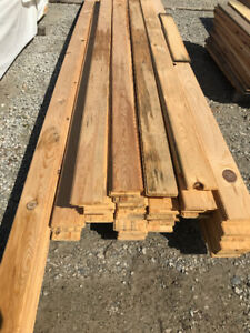 1x6 Red Pine V-Joint Tongue & Groove Weathered - LUMBER OUTLET