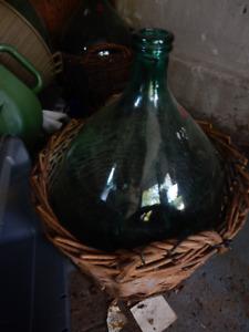 Demi john wine bottles