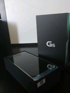 Unlocked LG G6 space grey with box accessories