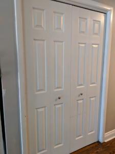 """3 bifold doors - 24""""x80"""" (2 doors shown in pic)"""