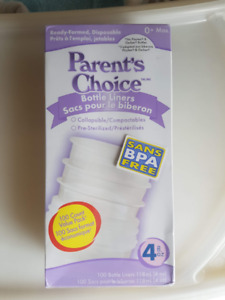 2 x Parent's Choice Bottle Liners, 4 oz, 100 count + 100 Free