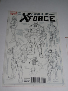 Marvel Comics Cable & X-Force#1 1 in 50 variant comic book