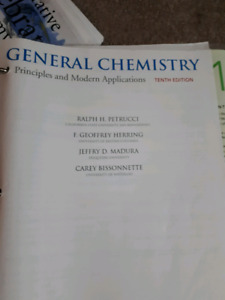 General chemistry text book
