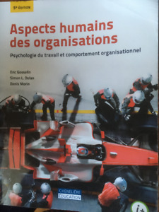 Livre Aspects humains des organisations