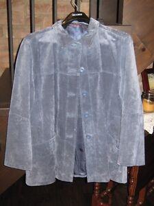 Blue Suede Leather Jacket - Womens Kawartha Lakes Peterborough Area image 1