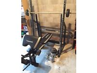 Smith machine and maximuscle home gym