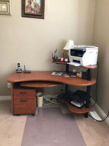 Computer Desk + Filing Cabinet - $85