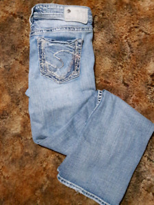 *REDUCED* Silver jeans size 27/31