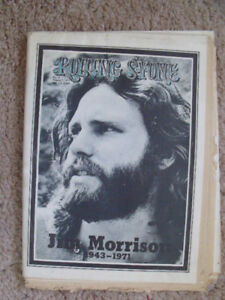 Rolling Stone magazine; death of Jim Morrison