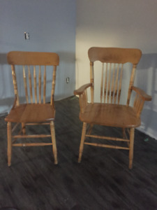 Solid wood dining room chairs from Bass River, NS