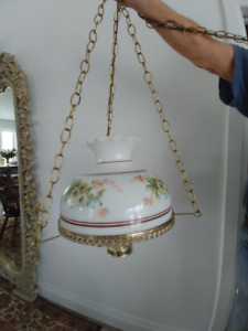 HAND PAINTED CHANDELIER SWAG LIGHT