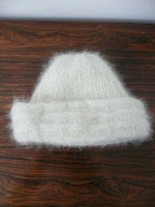 3 piece hat, mitts & scarf set made from Samoyed dog hair