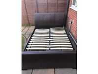 King Size Leather Bed Frame (Mattress Optional)