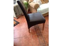 Leather back dining chairs