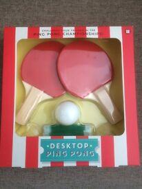 Desktop ping pong set