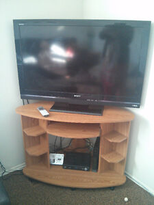 Sony TV with a TV stand