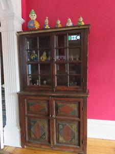Antique European Step Back Cupboard-Hutch