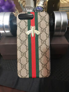 IPHONE 7/8/X PLUS GUCCI_1 EMBROIDERY CASE COVER Brand new
