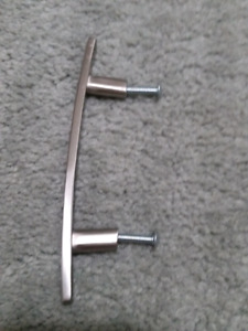 Brushed Nickel Cabinet Pulls 5 1/32inch. $3each