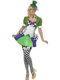 ALICE IN WONDERLAND MAD HATTER SIZE 10/12 FANCY DRESS OUTFIT GREAT FOR A PARTY OR HEN DO