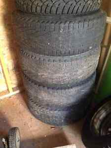 4 used gmc truck tires with some life left Cambridge Kitchener Area image 1