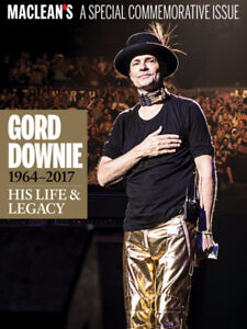 Macleans Gord Downie / Tragically Hip commemorative issue