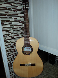 Classical Guitar, Music Books, Music Stand, & Chair