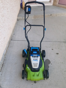 24 volt electric lawnmower
