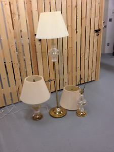 Set of 3 - Floor and End Table Lamps